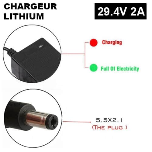 chargeur 29V DC2.1